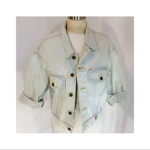 vtg guess Marciano jean jacket, light denim